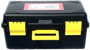 Black and yellow plastic case for Extreme Letterbox Tool Kit Visionary