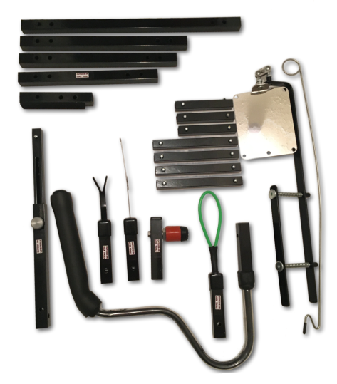 Extreme Letterbox Tool Kit for Locksmiths showing various sections and attachments
