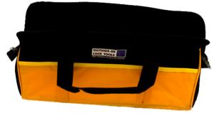 Orange and black locksmiths tool bag